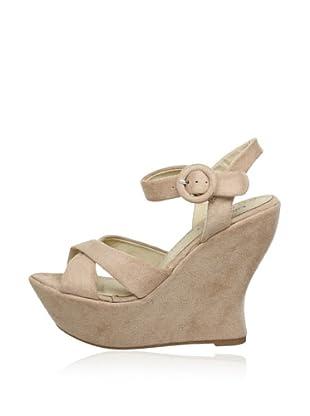 Buffalo Girl 311973 SY JMTLR 143581 - Zapatos de pulsera  mujer (Beige)