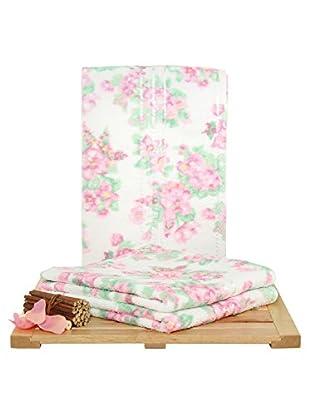 Maisonette Firuze 3-Piece Hand Towel Set, Pink