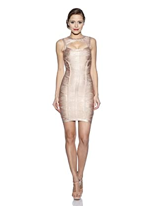 Corizzi & Absolu Vestido Abertura Escote Cóctel (Rosa)