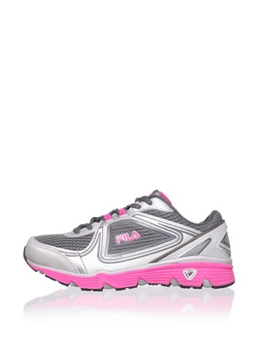 Fila Kid's Sport Spectrum Sneaker (Little Kid/Big Kid) (Silver/Castlerock/Hot Pink)