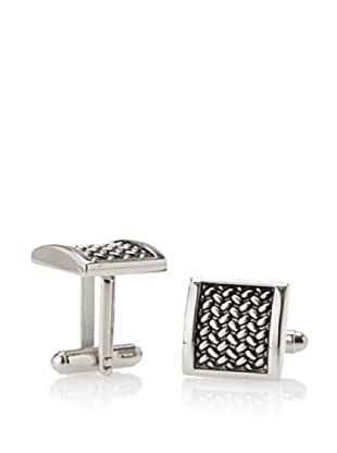Link Up Square Tire Print Cufflinks