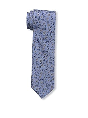 Bruno Piattelli Men's Slim Floral Tie, Denim