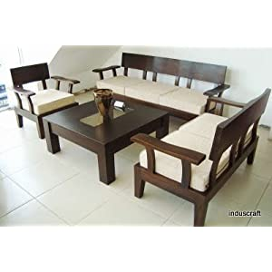 INDUSCRAFT MODERN OFFICE WOODEN SOFA SET COMBO (3+2+1+Table)