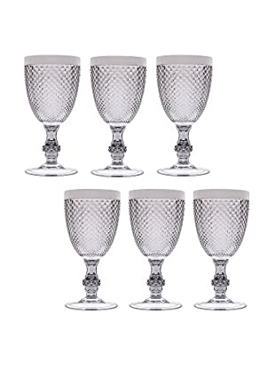Brunch Time Glas 6er Set Linea Diamond 39 cl silber