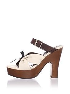 MARNI Women's Buckled Platform Sandal (Alabaster)