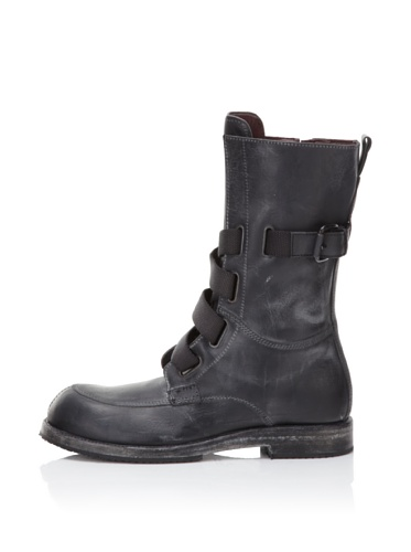 I.AM Men's Leather High Top Boot (Black)