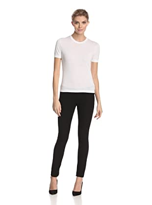 Malo Women's Round Neck Tee (White)