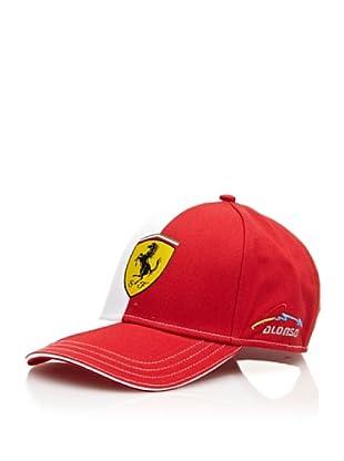 Ferrari Gorra Alonso Logo (Rojo / Blanco)
