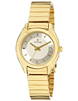 Titan Karishma Analog Champagne Dial Women's Watch - ND2489YM05