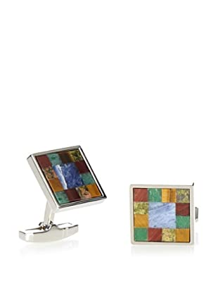 Daniel Dolce Multi-Stone Mosaic Cufflinks