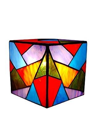 Arte Dal Mondo Nachtischlampe Cubo Triangoli