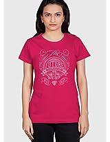 Fuchsia Printed T Shirt Tantra