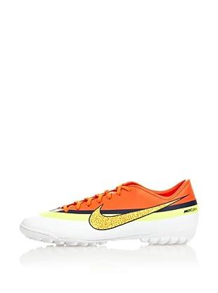 Nike Botas Fútbol Mercurial Victory Iv Cr Tf (Blanco / Naranja / Amarillo)