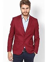 Red Regular Fit Jacket & Blazer