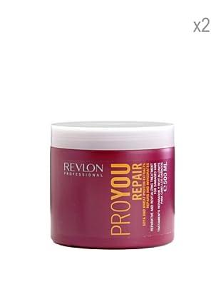 Revlon Set 2 Pro Tratamientos Reparadores Extracto Soja Proteína De Trigo 500 ml