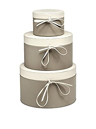 Braid Concept Box 3er Set taupe/elfenbein