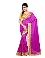 Trynget Synthetic Saree (Tng 95 -Cream)