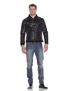 MG Black Label Men's Chlorine Quilted Track Jacket (Onyx)