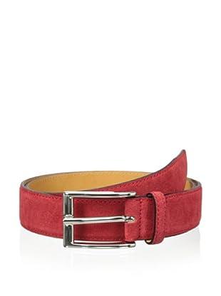Leone Braconi Men's Velour Z Belt (Red)
