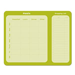 Studio Oh! Meal Planner Notepad, Kiwi