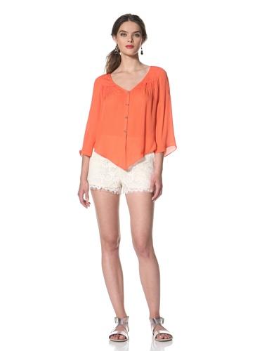 Dolce Vita Women's Alejandra Angular Hem Top (Coral)
