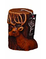 Deco Glow Sculpted Pillar Candle, Deer