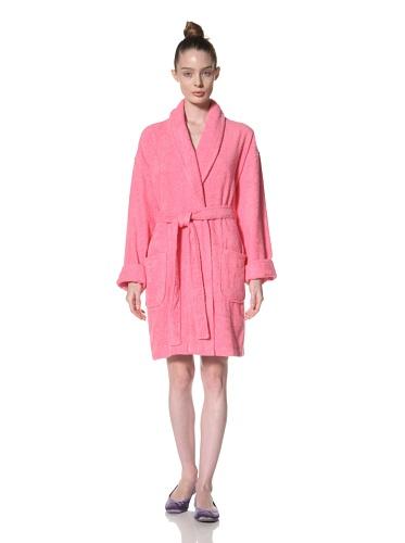 Aegean Apparel Women's Zero Twist Terry Loop Robe (Fuchsia)