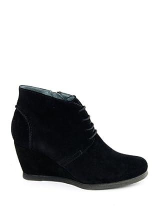 Eye Shoes Botines Cordones Cuña (Negro)