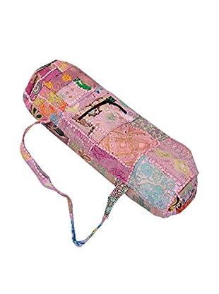 Khmabari Yoga Mat Bag, Pink/Black
