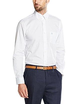 Cortefiel Camisa Hombre Microestampado Bl Gob T