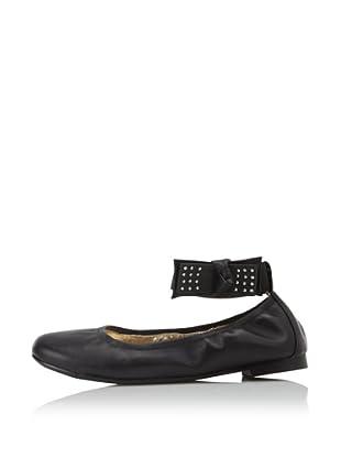 Olivia D. by J. Loren Kids Neve Dress Shoe (Black/Silver)
