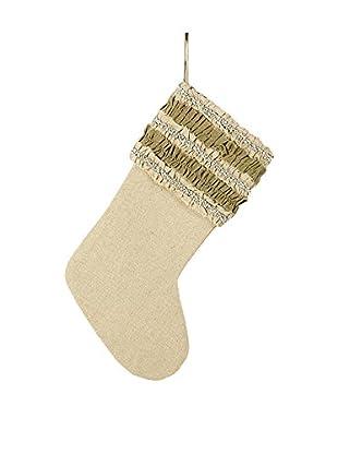 Sage & Co. Ruffled & Beaded Stocking