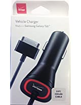 Verizon Vehicle Car Power Charger For Samsung Galaxy Tab SGH-i987 / SCH-i800 / SPH-P100 SGH-T849 / 7.0 Plus / 7.7 / 8.9 GT-P7310 / Note 10.1 / i905 / 10.1 GT-P7510 / Tab 2 10.1 (Carrier Packaging)