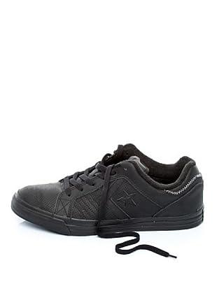 Converse 117177 - Zapatillas de deporte de cuero unisex (Negro)