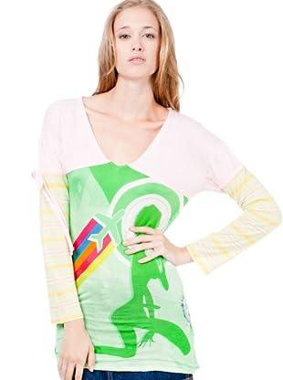 Custo T-Shirt Autumn Phoning (Mehrfarbig)