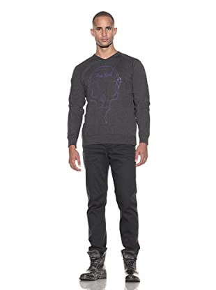 Lords of Liverpool Men's The End Pullover Sweatshirt (Charcoal/Purple)