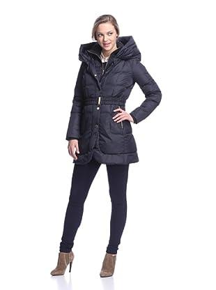 Ivanka Trump Women's Belted Puffer Jacket (Navy)