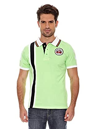 Geographical Norway Polo Manga Corta Kadford Ss Men 402 (Verde/Marino)