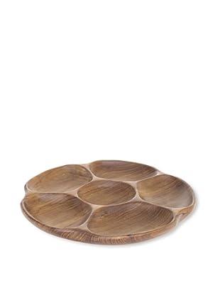 Bahari Teak Wood Flower Plate