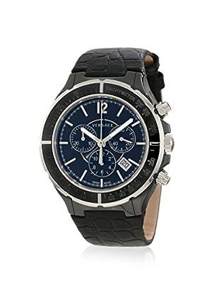 Versace Men's 28CCS9D008 S009 DV One Black Ceramic & Leather Watch