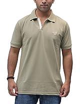 Romano Men's Cotton Polo Beige