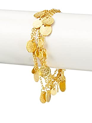 Ashiana London 22K Gold-Plated Coin Bracelet