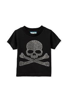 Born 4 Couture Boy's Skull Short Sleeve T-Shirt (Black)