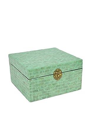 Three Hands Green Short Tile Wood Box