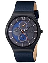 Skagen Grenen Chronograph Blue Dial Men's Watch-SKW6149