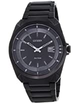 Citizen Eco-Drive Analog Black Dial Men's Watch - AW1015-53E