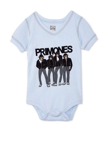 Lil Jokester Baby Primones Short Sleeve Bodysuit (V-Neck Blue)