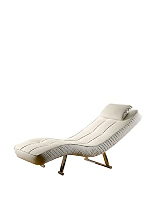 Abbyson Living Carpin Euro Chaise, Pure White
