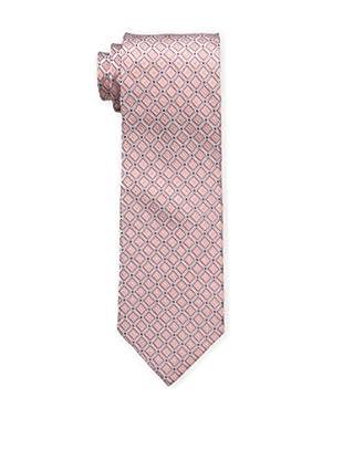 Bruno Piattelli Men's Maze Silk Tie, Coral