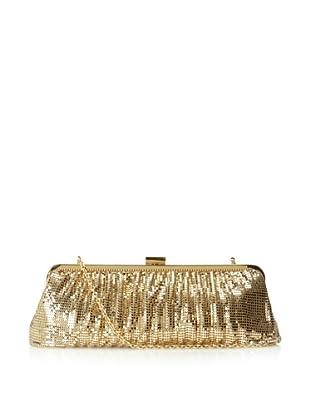 Whiting & Davis Women's Contemporary Shirring Clutch (Gold)